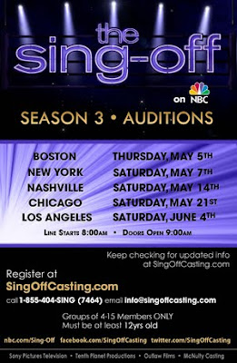 NBC The Sing Off Open Casting Calls