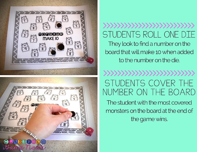 The Classroom Game Nook: 3 Math Games to Print and Play {RIGHT NOW}