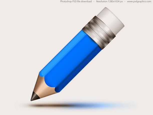 Blue Pencil Icon PSD