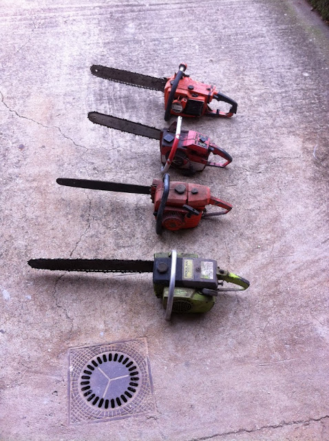 Motosierras Poulan 306A, Homelite 103, Echo 701 & Castor C70 Old/Vintage Chainsaws