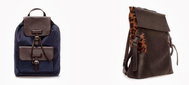 mochila de zara con print animal