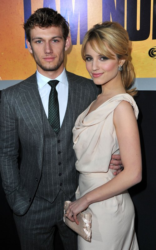 "dianna agron and alex pettyfer i am number four premiere. film ""I Am Number Four"""