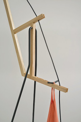 a floor lamp by aust & amelung