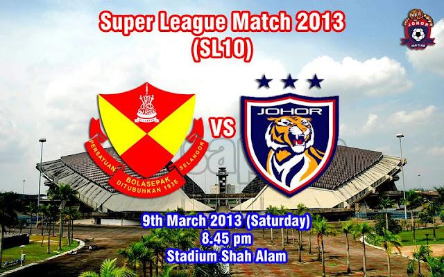 Live Streaming Selangor vs Darul Takzim 9 Mac 2013 - Liga Super 2013