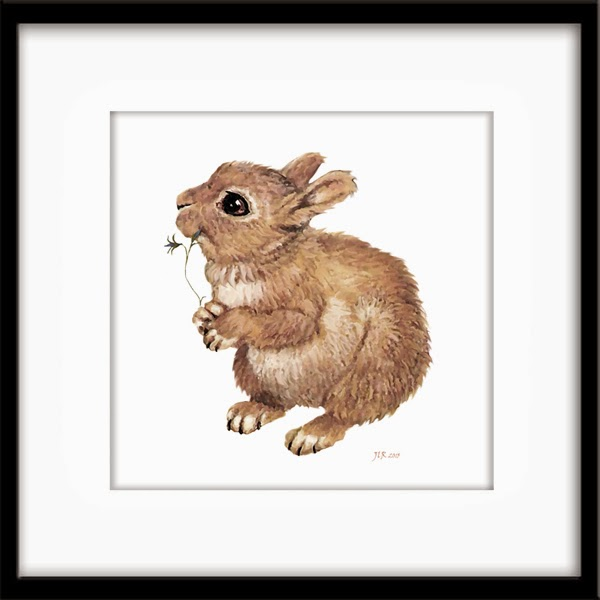 Baby rabbit nursery art by Bamalam Art and Photography