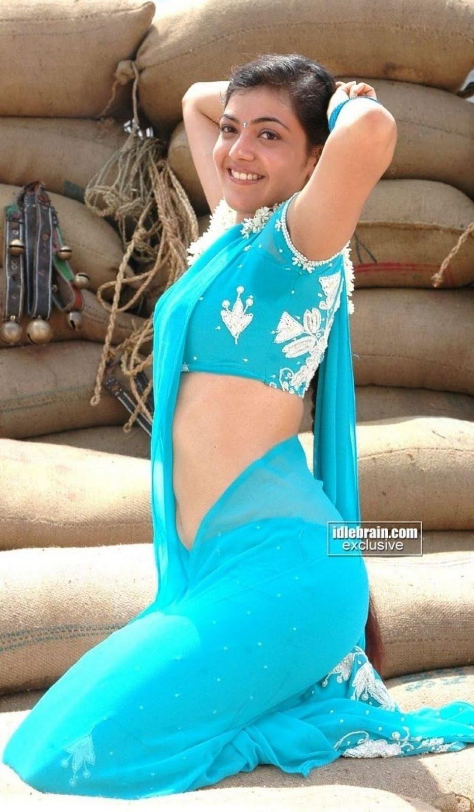 ... saree kajal aggarwal transparent sare kajal aggarwal blue saree kajal