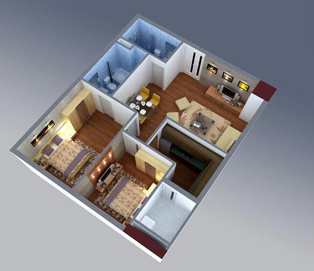 Thiết kế căn hộ CT3 Cổ Nhuế
