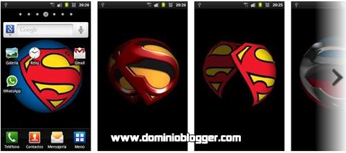 Superman 3D logo Wallpaper gratis para tu Smartphone