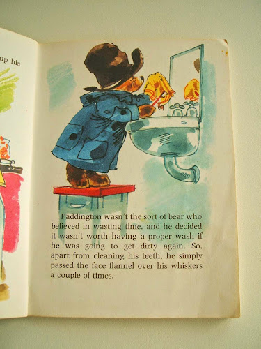 vintage paddington children's book illustrations by Barry Wilkinson 1970s