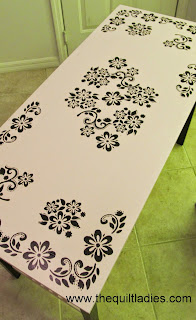 stencil a table how to