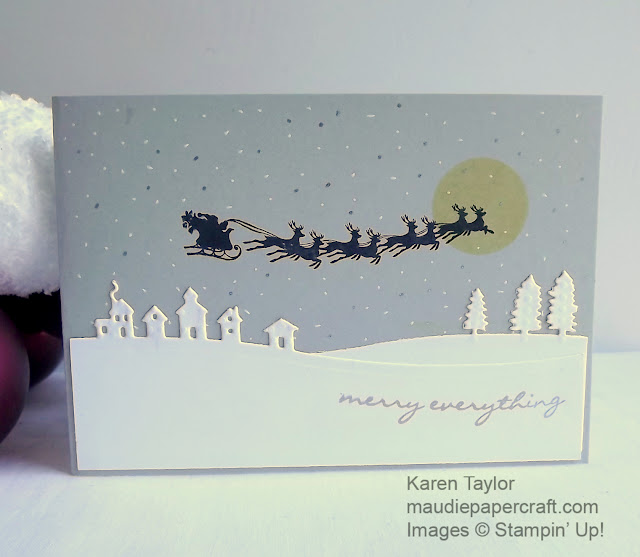 Stampin' Up! Sleigh Ride thinlits  meets Cozy Christmas card