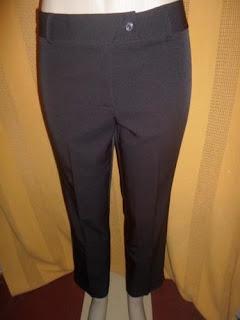 calça social marrom poliéster e elastano