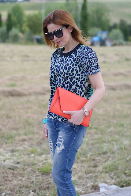 Asos studded sunglasses, Maison Scotch mixed prints blouse, Fashion and Cookies