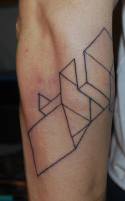 dimensional shape tattoo