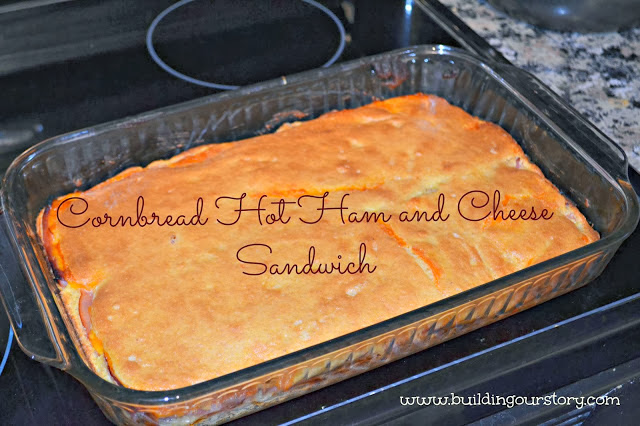 Cornbread Hot Ham and Cheese Sandwich Recipe