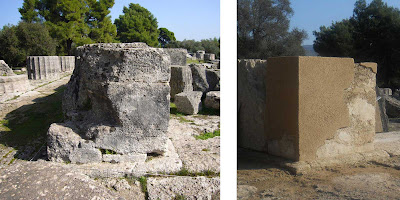 Temple of Zeus at Olympia partially reconstructed