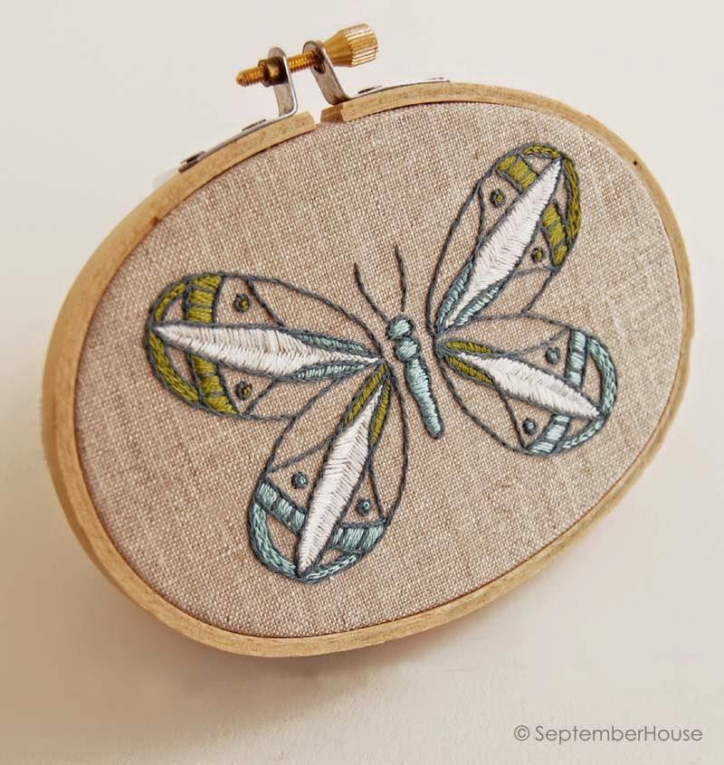 Butterflies hand embroidery patterns from SeptemberHouse