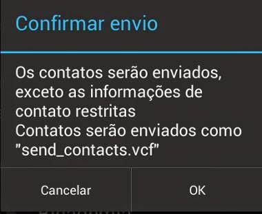 enviar contatos android