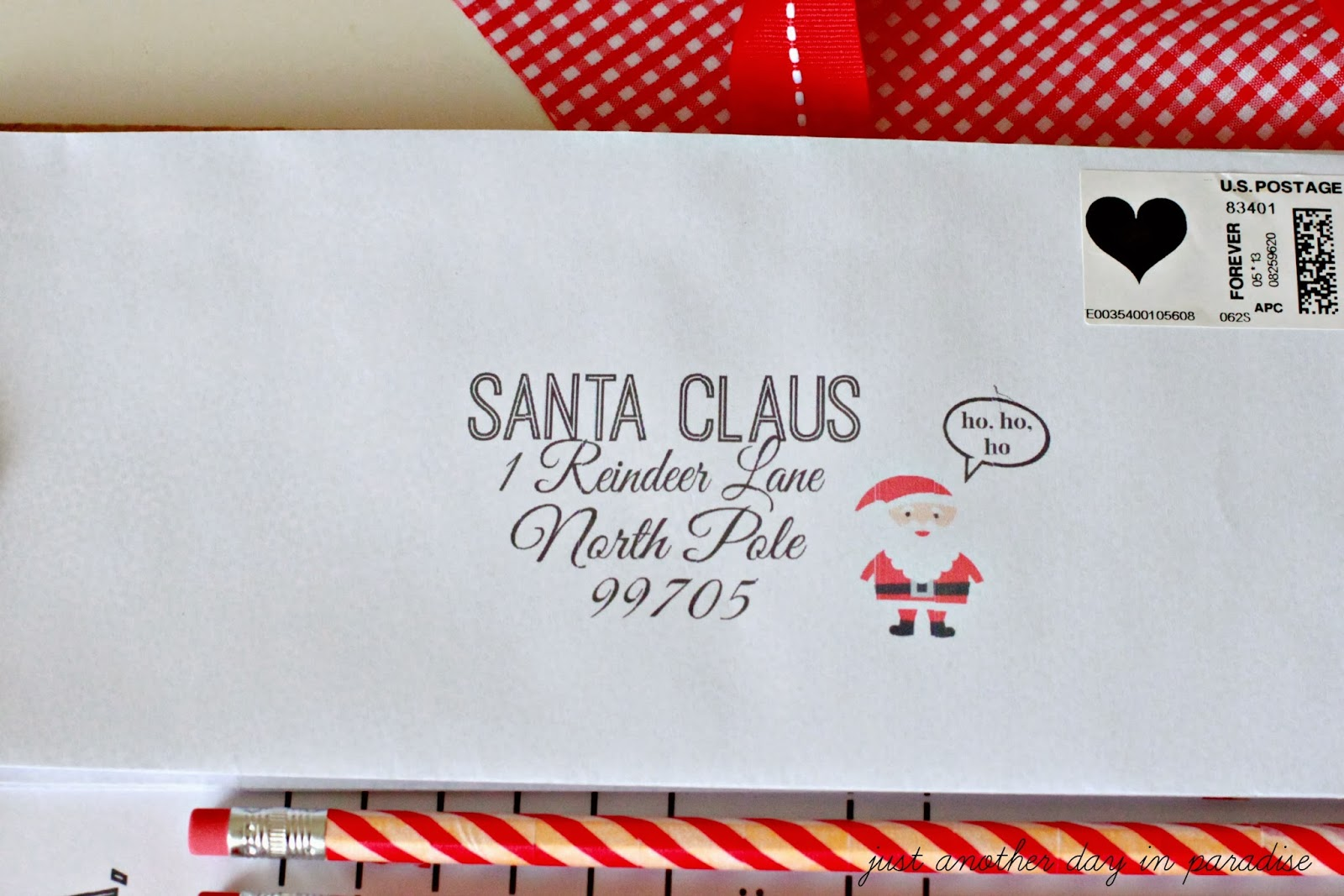 santa letter writing kit dear santa letter dear santa envelope lable ...