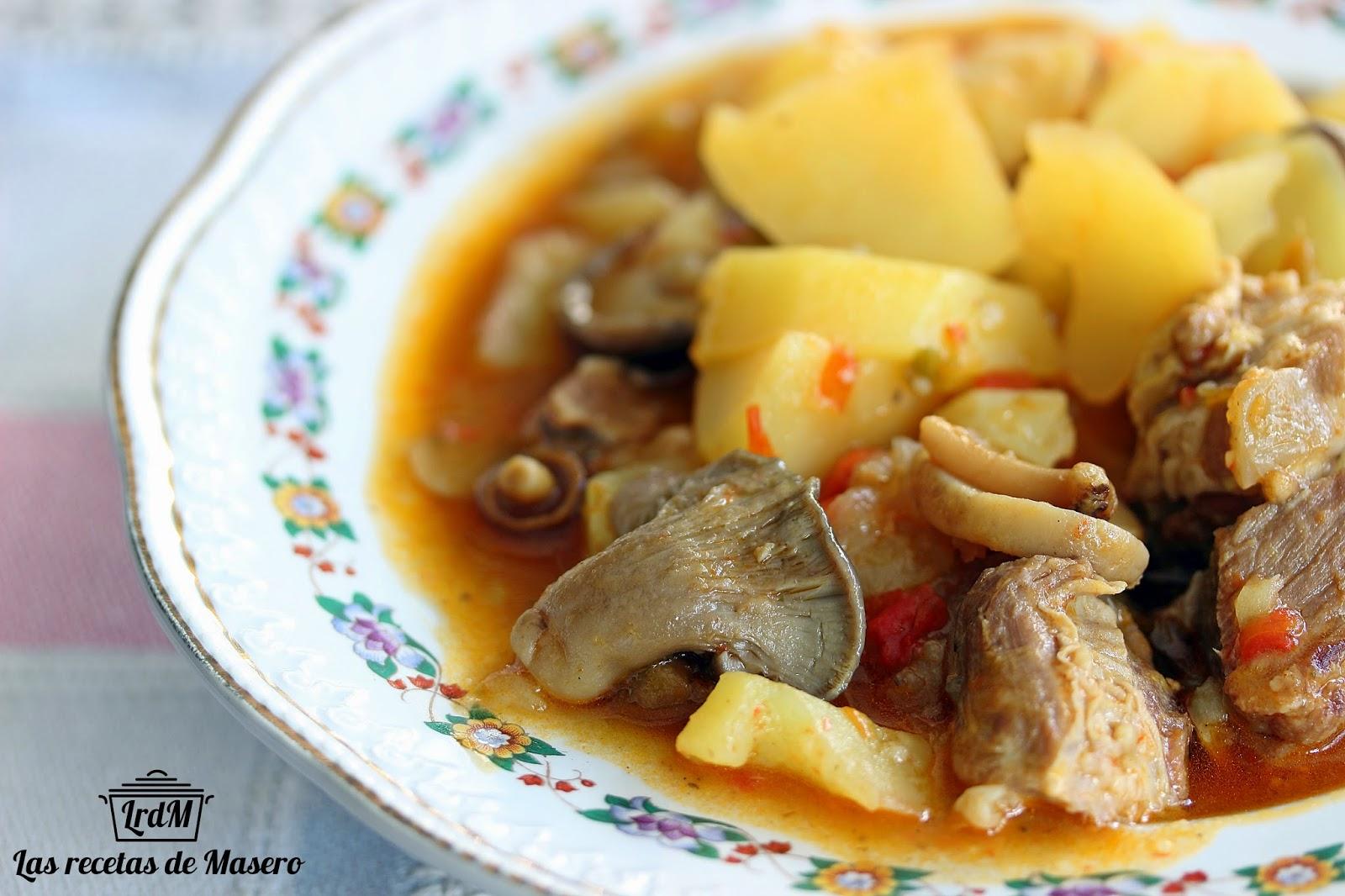 Las recetas de masero patatas con costillas en olla a presi n for Cocinar con olla express