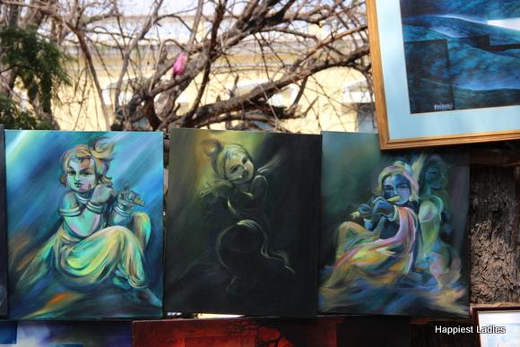 baby krishna painting