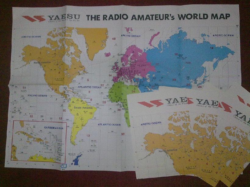 PETA AMATIR RADIO DUNIA ORIGINAL