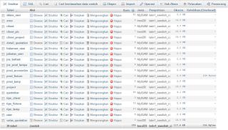 Contoh cara membuat database di xampp