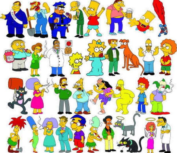I simpson cartoni animati e personaggi