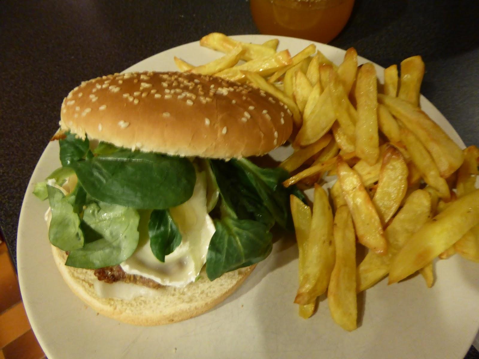 les paniers de b n burger ch vre miel et burger comt et frites maison. Black Bedroom Furniture Sets. Home Design Ideas