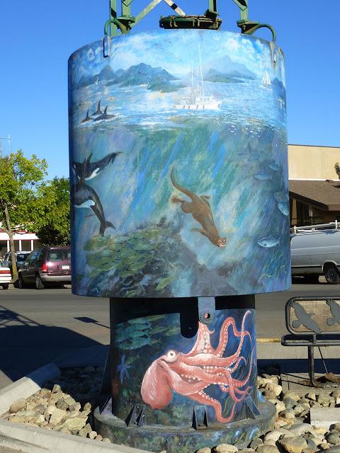 Buoy mural (3) - Ganges, Salt Spring Island, BC