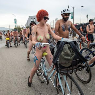 2015 World Naked Bike Ride, naked bike rice Los Angeles, nude bike ride LA, naked bike ride