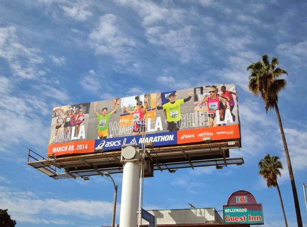 Run Watch Cheer LA Marathon 2014 billboard