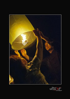 lancio delle lanterne volanti rapunzel