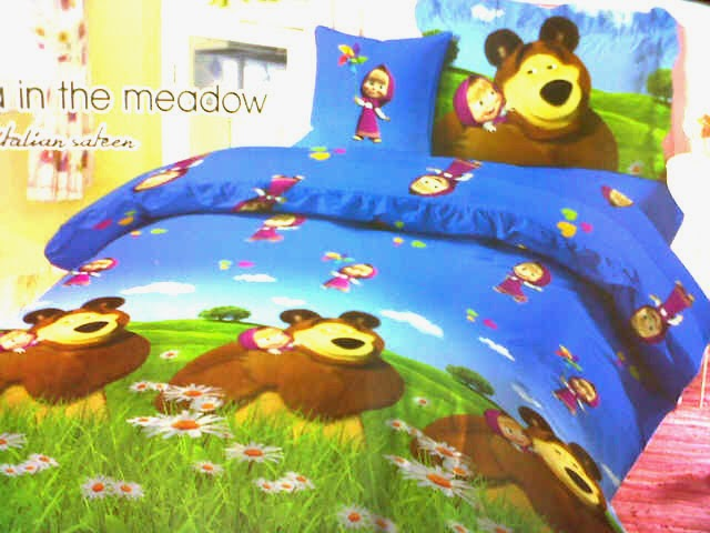 Sprei Anak Motif Masha and The Bear