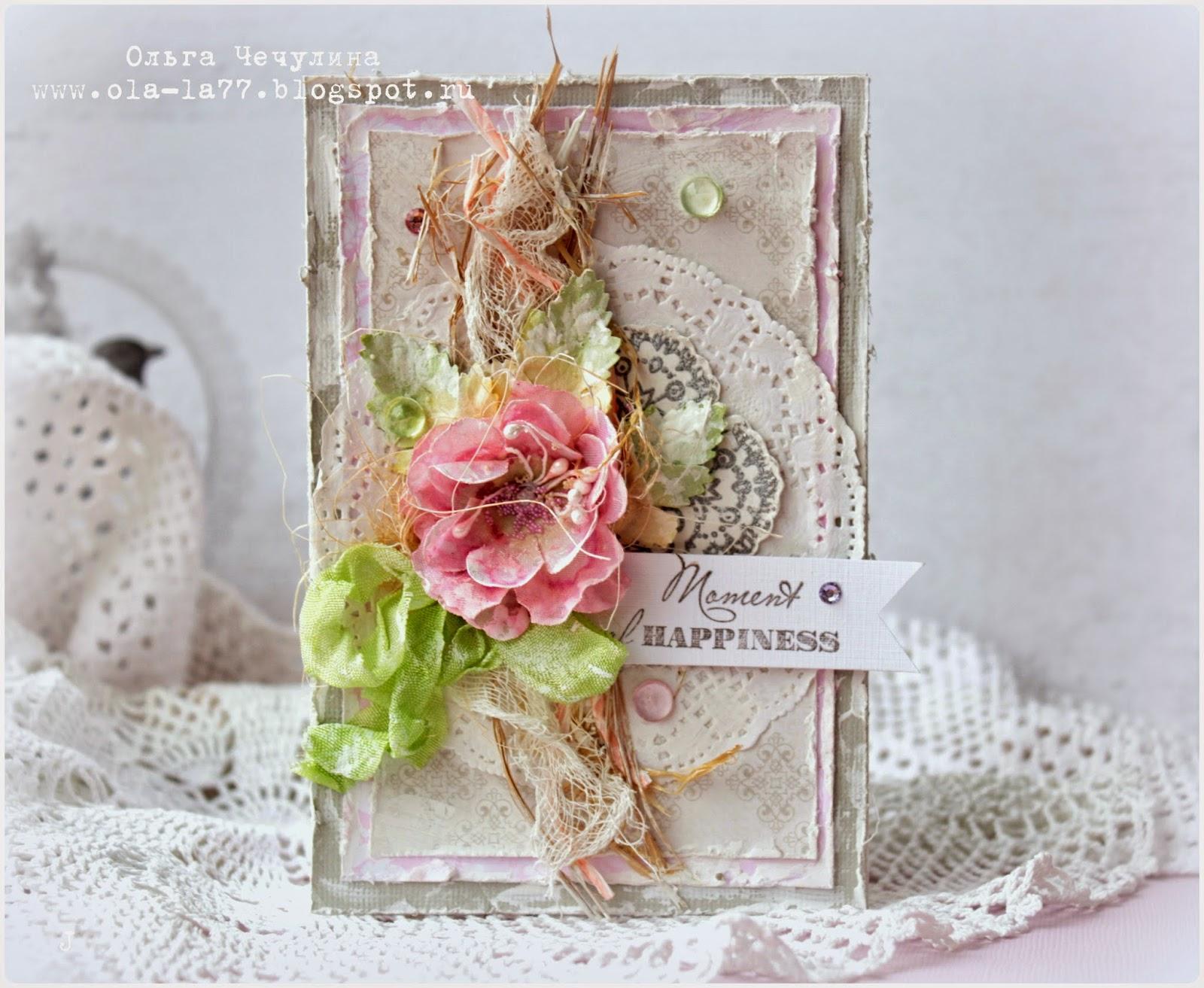 Свадебная открытка своими руками в стиле шебби-шик 99