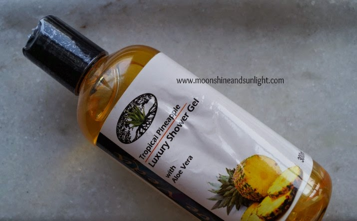 Aloe Veda Tropical pineapple Luxury shower gel review