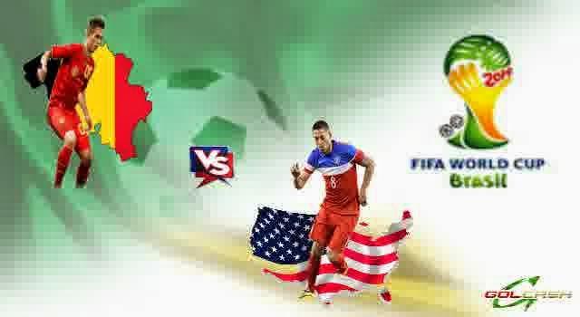 Perkiraan Hasil Akhir Pertandingan Fase Perdelapan Final Piala Dunia Rabu 2 Juli 2014 : Belgia Vs AS