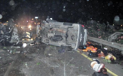 Foto-Foto Kecelakaan Maut Anak Ahmad Dhani