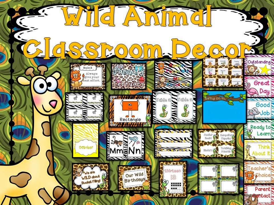 Classroom Decor Animals : Second grade nest classroom inspiration
