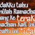 RAMADHAN..... =(