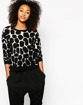 Giraffe print jumper