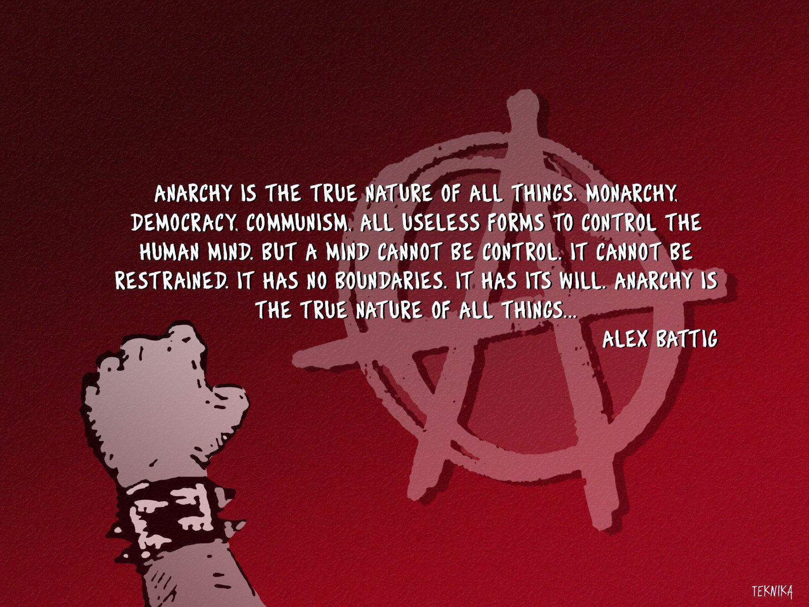anarcistic  values