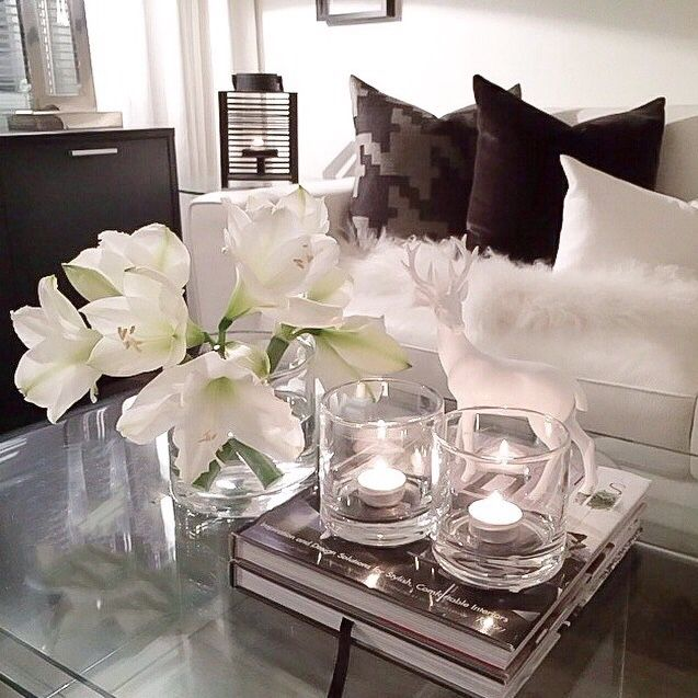 Decor inspo coffee table ambiance for White living room ideas pinterest