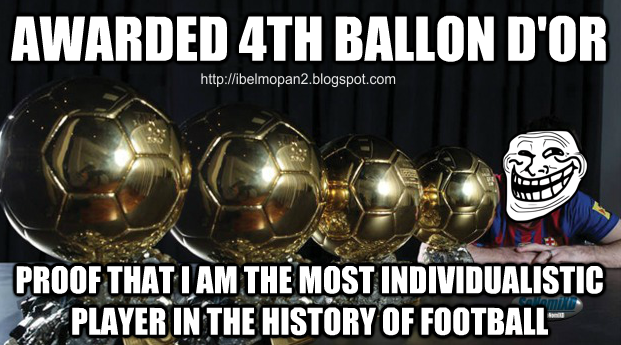 Messi 4 ballon d'or meme