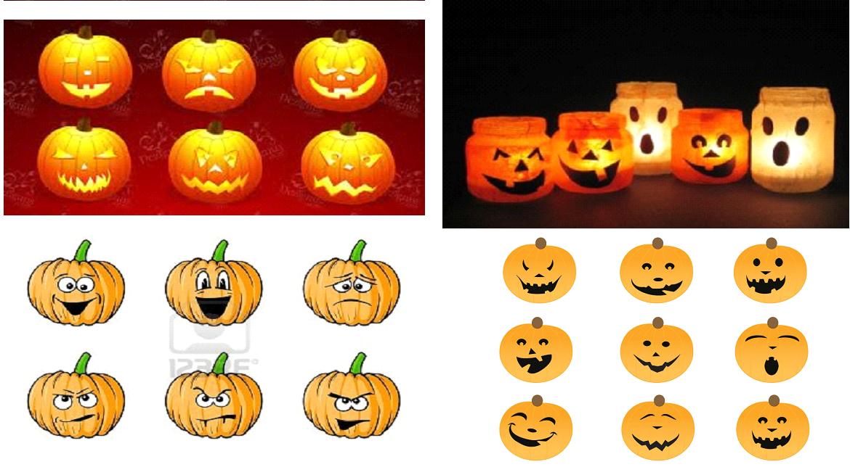 Manitas creativas y algo mas pintura caras de calabaza - Calabazas pintadas para halloween ...