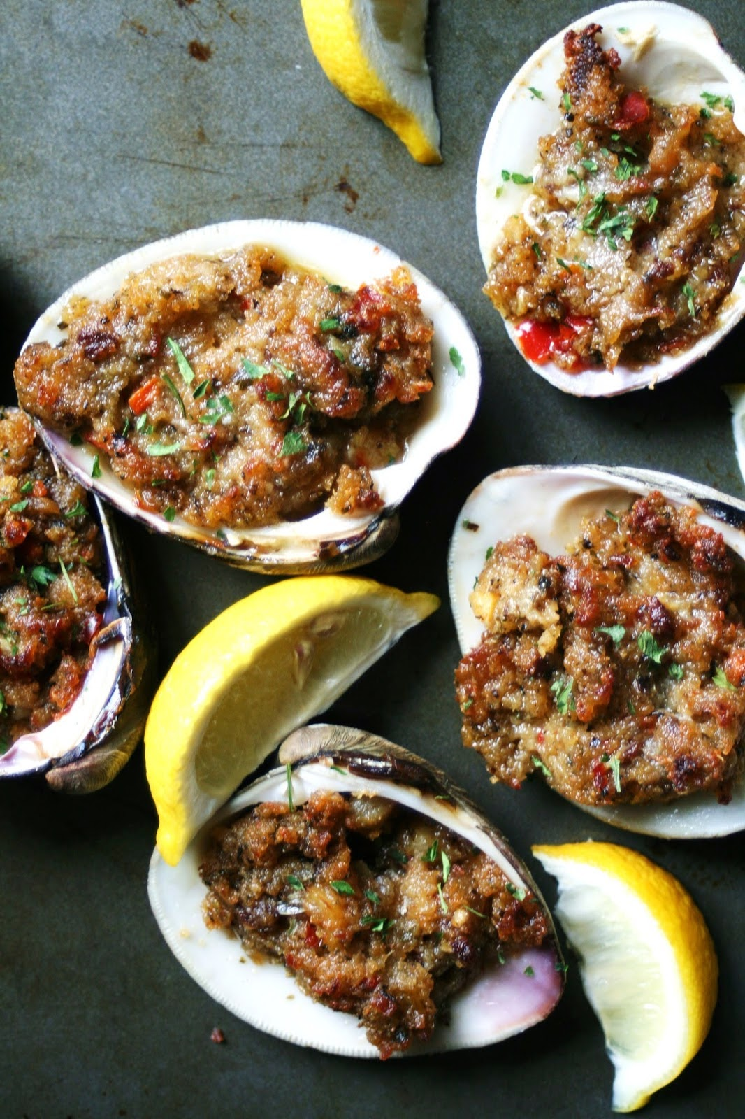 Chorizo Baked Clams