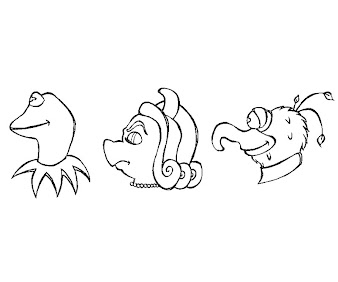 #15 The Muppets Coloring Page
