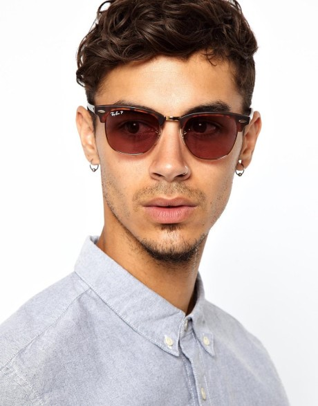 ray ban mens clubmaster sunglasses  ray ban clubmaster sunglasses. it gives men that extra touch of macho and sophisticated look to others. the classic black definitely throws in that