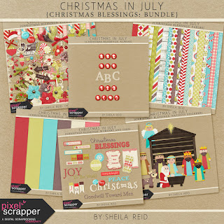 Free scrapbook Christmas in July