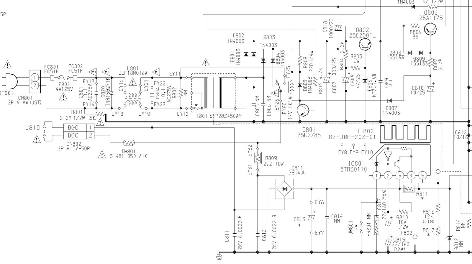 aiwa tv-c1300 - tv-cn140 - schematic diagram  circuit diagram